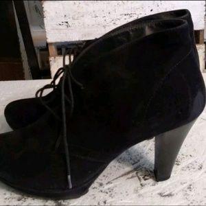 Paul Green- BLACK Suede Booties size 9.5(7.5 UK)